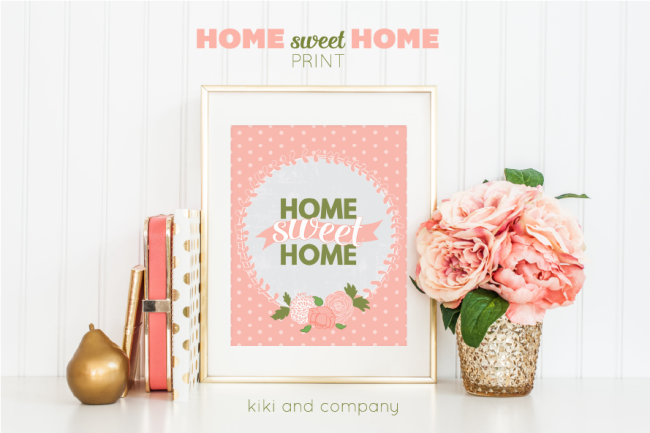 Home Sweet Home Print from Kiki and Company. LOVE!