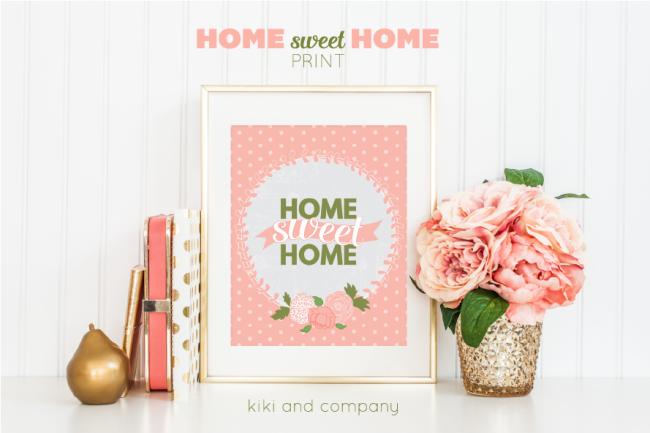 Home Sweet Home Print from Kiki and Company. LOVE!