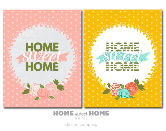 Home Sweet Home Prints from kiki and company