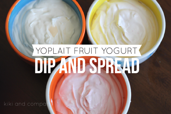 Yoplait Fruit Yogurt Dip and Spread. So easy!