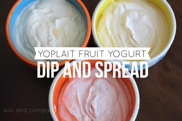 Yoplait Fruit Yogurt Dip and Spread. So easy!