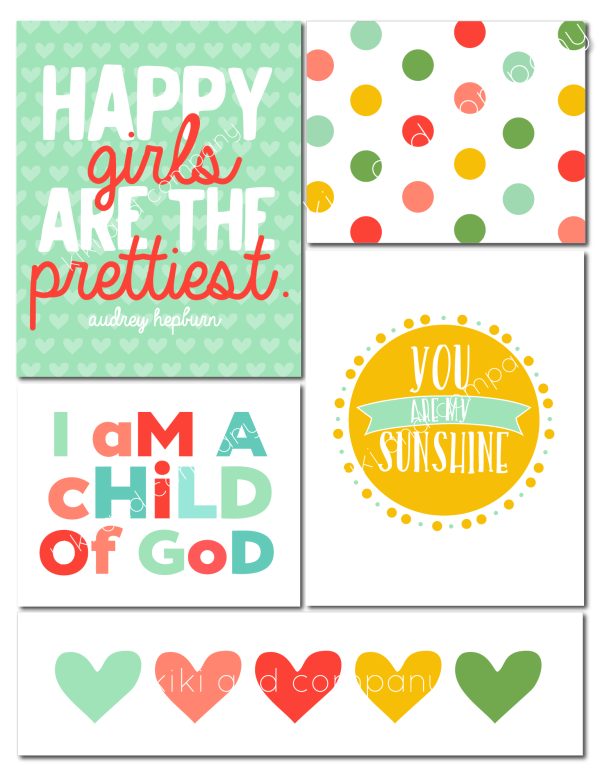 girls room prints