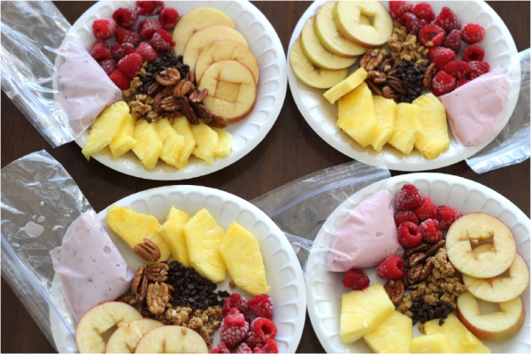 wholesome snacking with yoplait yogurt. love this idea!