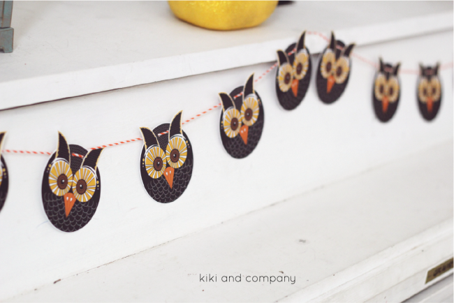 Free Owl Printables from kiki and company