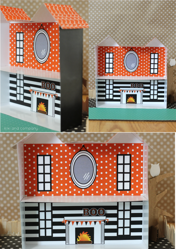 Halloween Doll House from kiki and company. The inside!