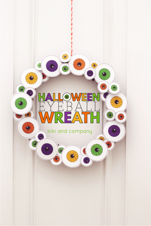 Halloween Eyeball Wreath from kiki and company