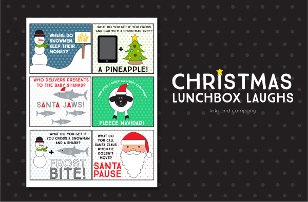Christmas Lunchbox Laughs from kiki and company. LOVE these!