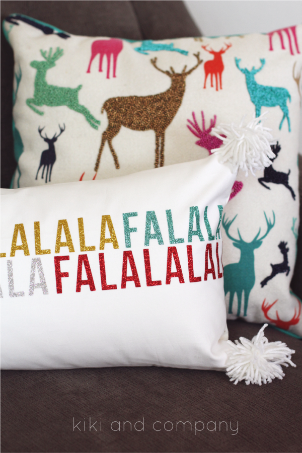 Fa la la la pillow from kiki and company. #expressionsvinyl LOVE!