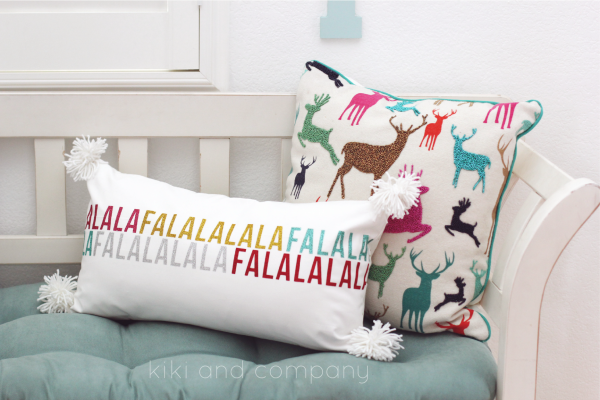 Fa la la la pillow from kiki and company. #expressionsvinyl So fun!