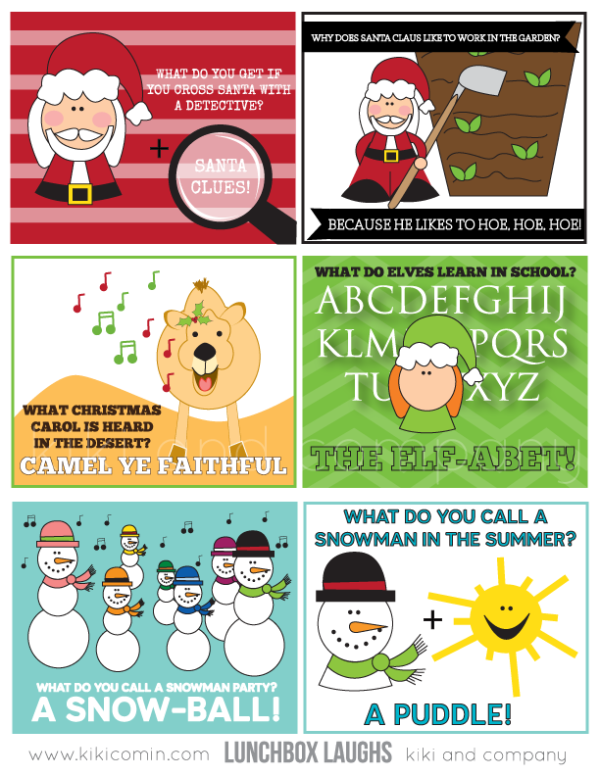 christmas lunchbox laughs from kiki and company #free #printable #christmas