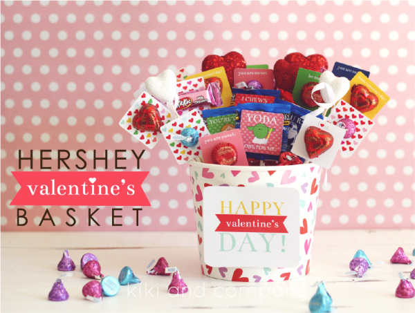 Hershey Valentine's Basket at kiki and company. Super cute!