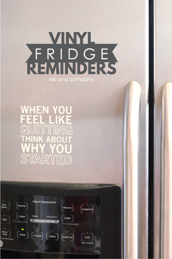 Vinyl Fridge Reminders with Expressions Vinyl