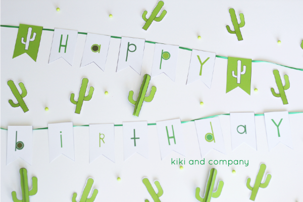 cactus party printables from kiki and company. love