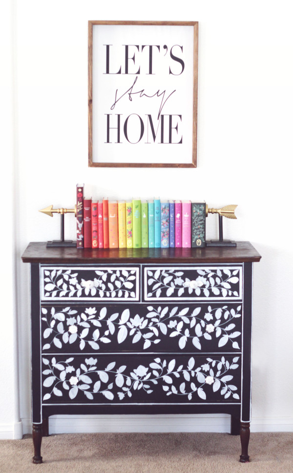 vinyl chalkboard dresser