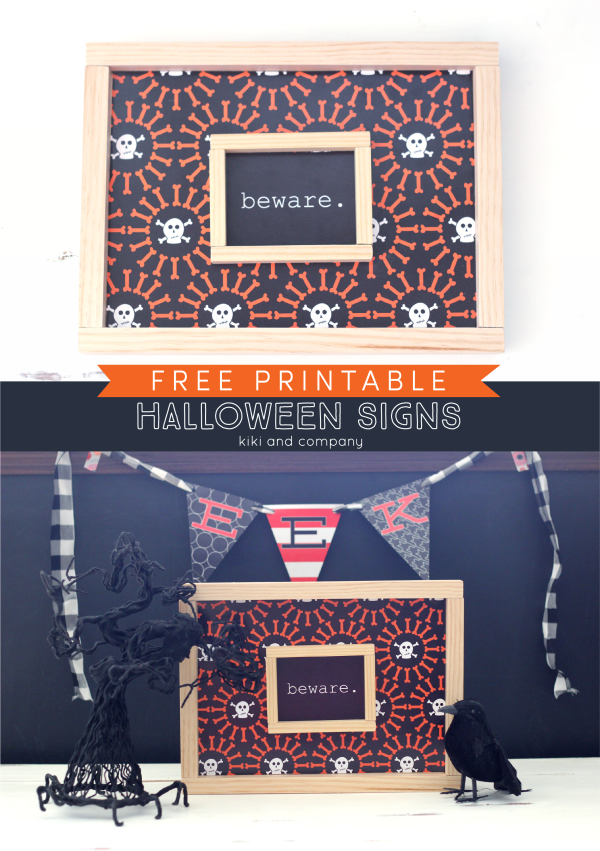 Free Printable Halloween Signs from kiki and company. Halloween fun!