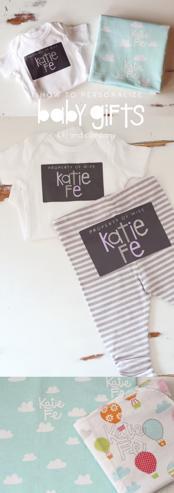 How to personalize baby gifts from kiki and company