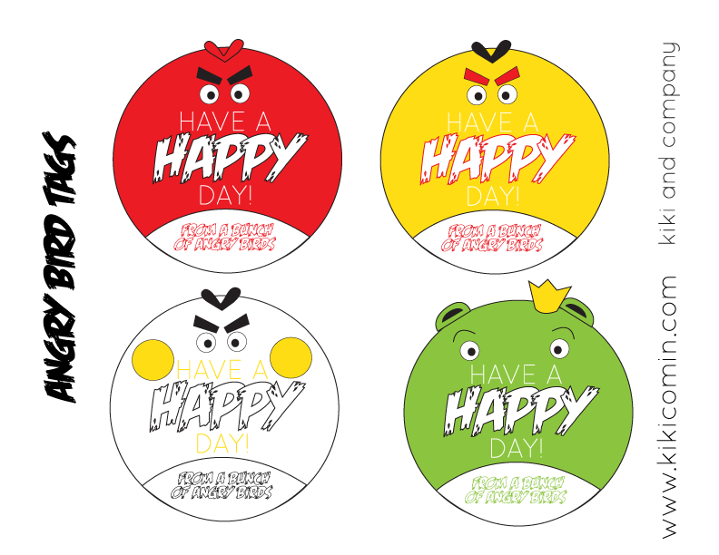 ANGRY BIRD FREE TAGS FROM KIKI AND COMPANY
