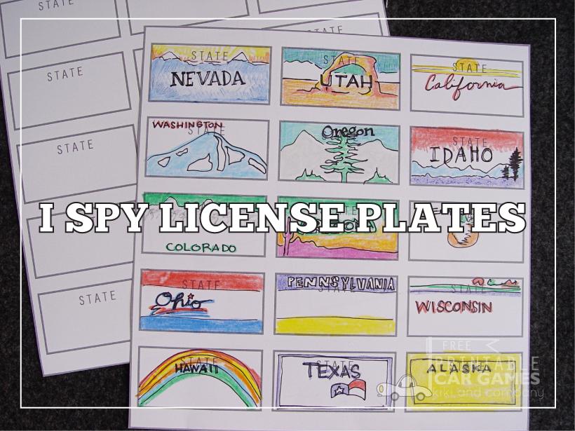 Universal image intended for printable license plate maker