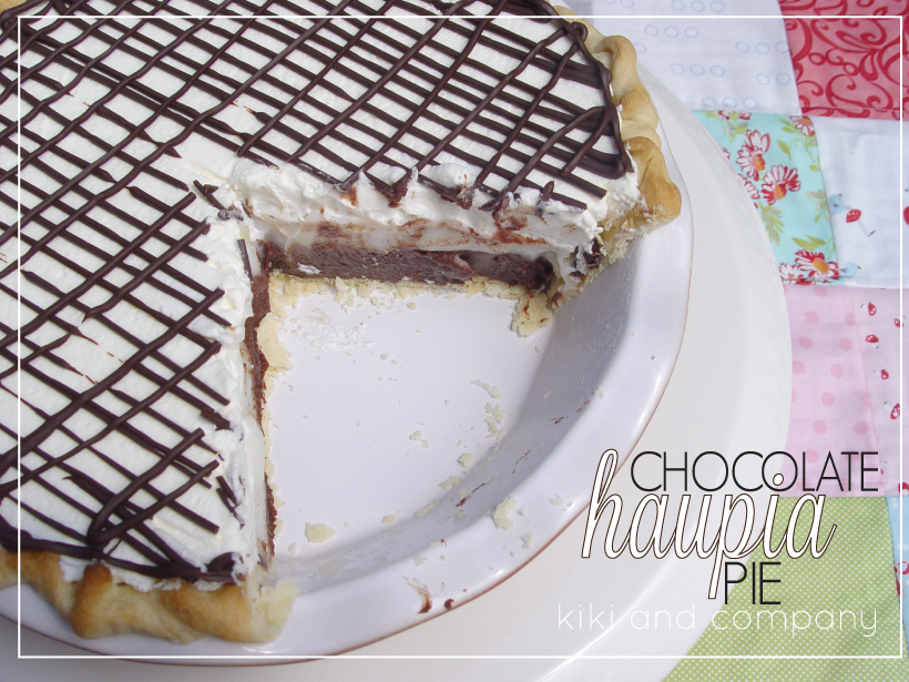Chocolate Haupia Pie {recipe} - Kiki & Company
