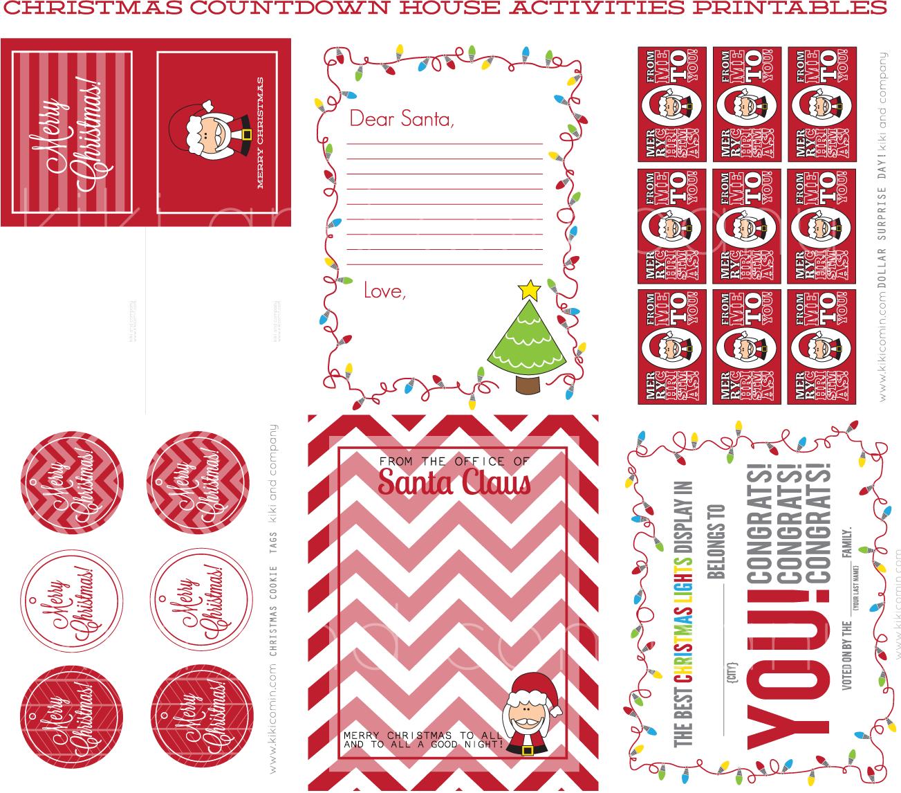 Christmas Countdown House {printables} - Kiki & Company