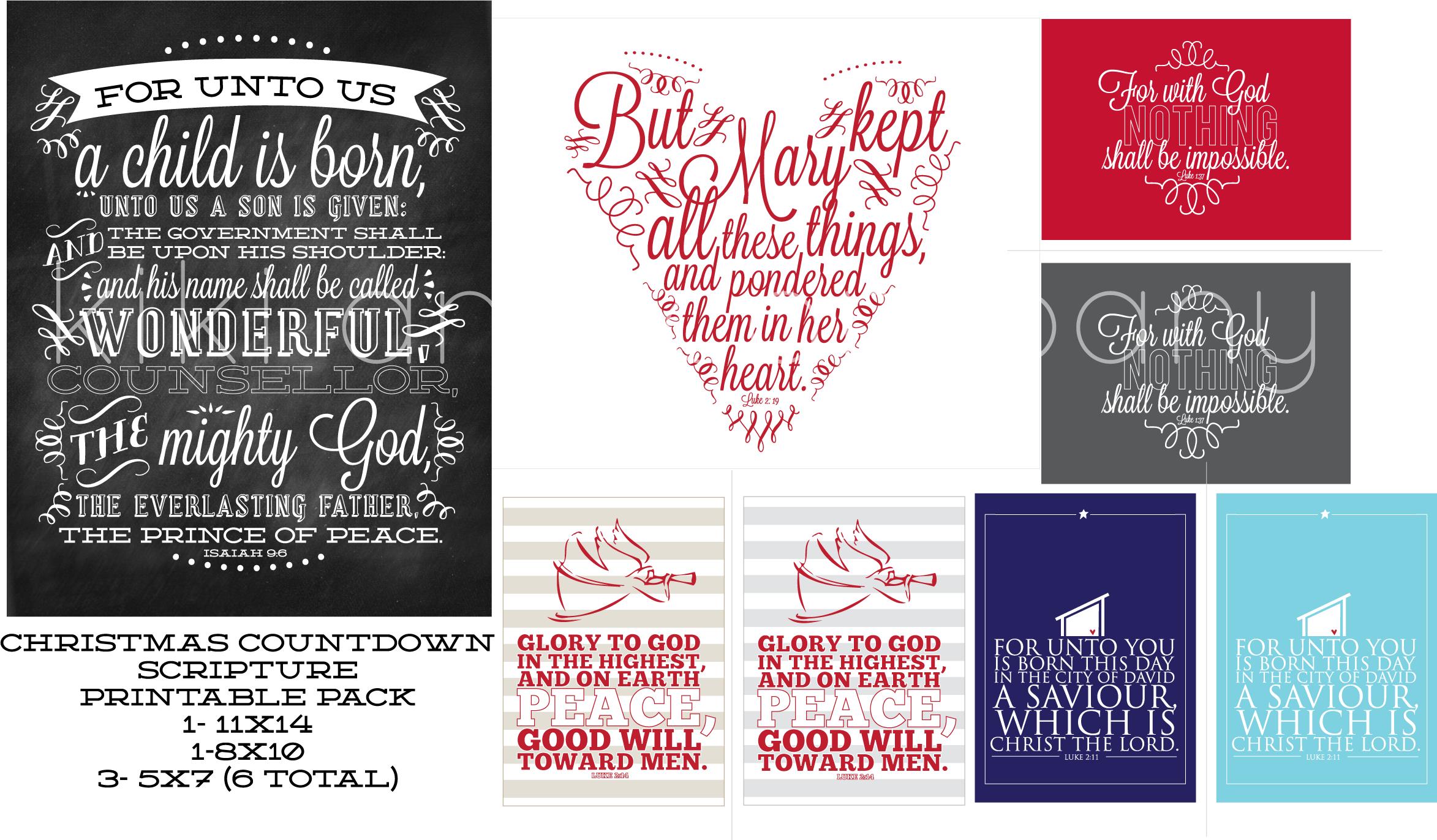 Christmas Countdown Scripture-Printables | http://kikicomin.com/wp ...