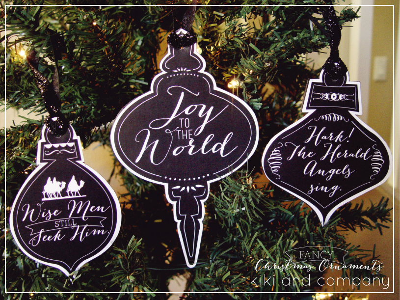Free Printable Christmas Ornaments.Printable Chalkboard Look Christmas Ornaments