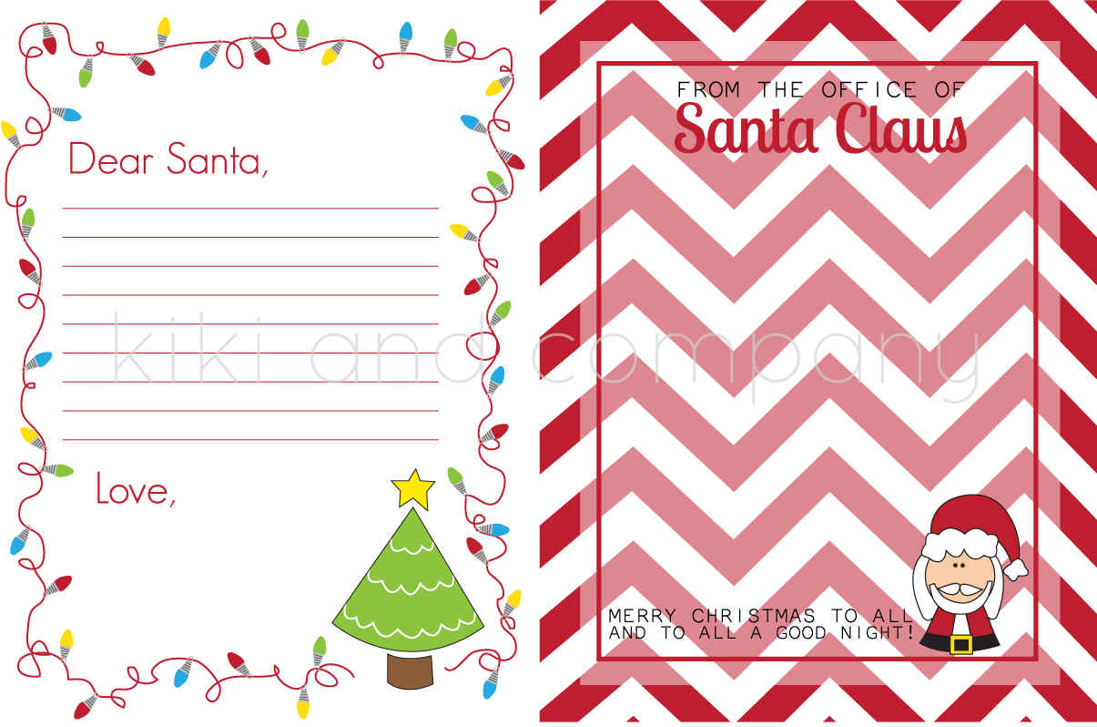 Printable Christmas Stationary Santa stationary..fun, right?