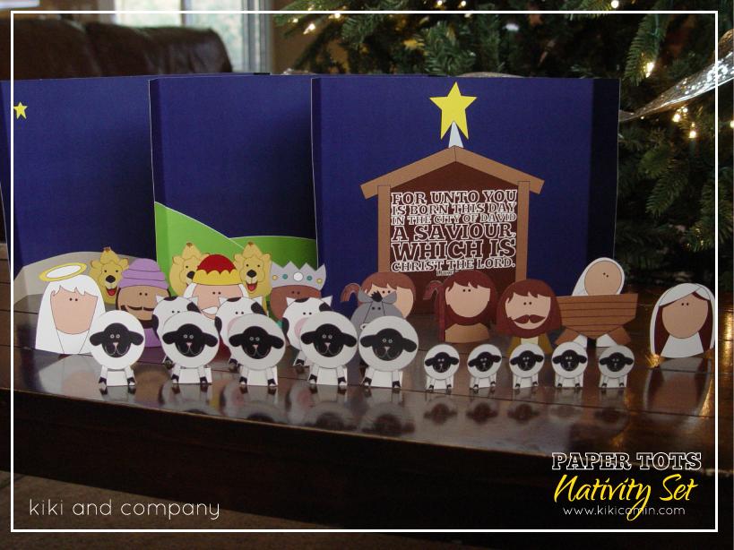 Printable Nativity Set - Kiki & Company