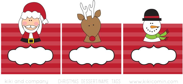 Free santa edition paper tots free download kiki company for Name tags christmas