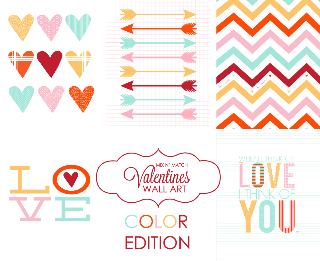 Mix N' Match Valentines Prints