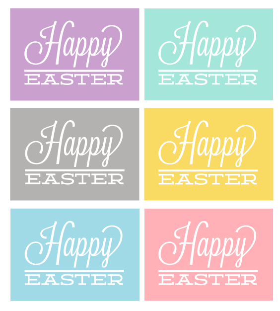 Vibrant image with happy easter sign printable