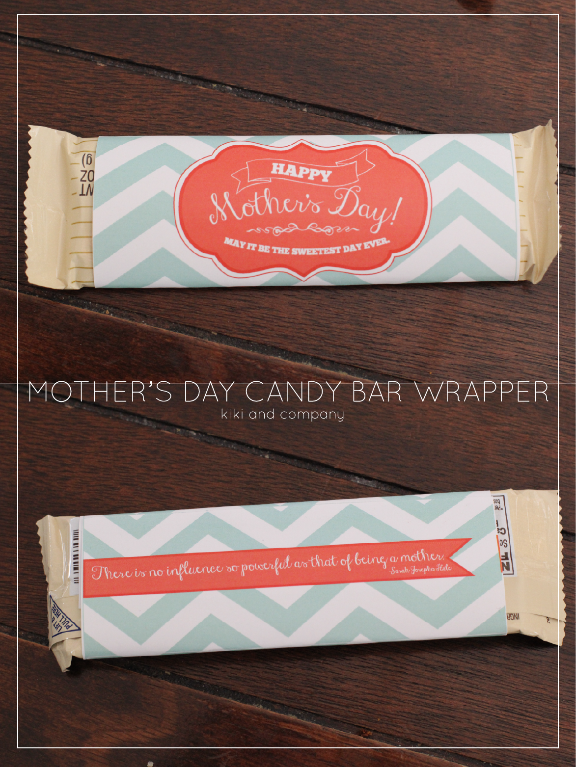 Mothers Day Candy Bar Wrapper by Kiki & Company