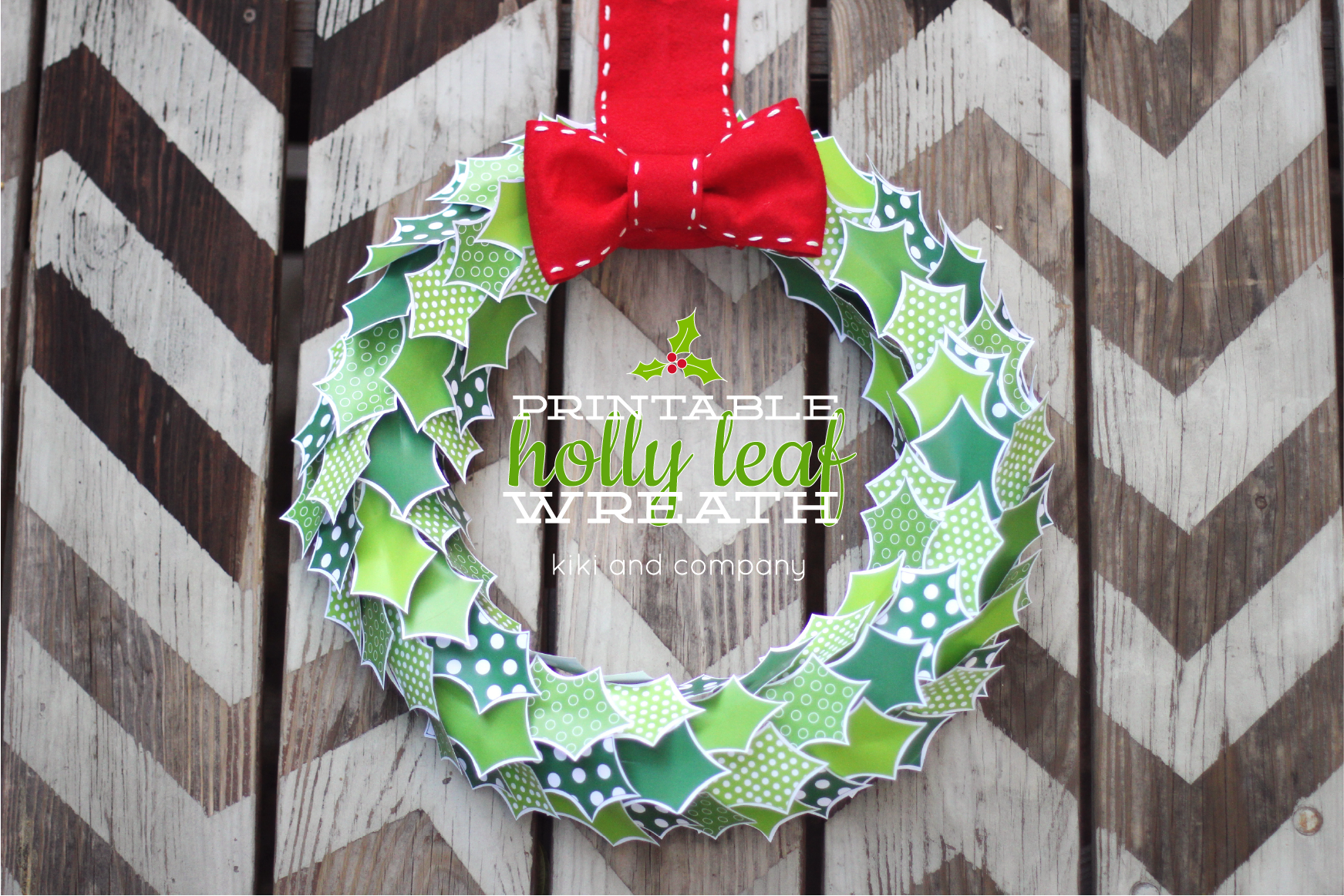 Crafty image with printable wreath