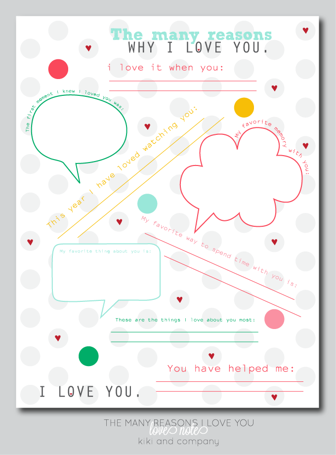 the many reasons why i love you LOVE NOTE. free printable at kiki and ...