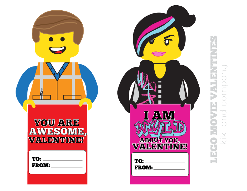 Free Lego Movie Valentines {free printable}