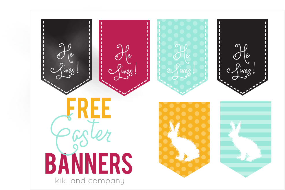 Zany image within easter banner printable
