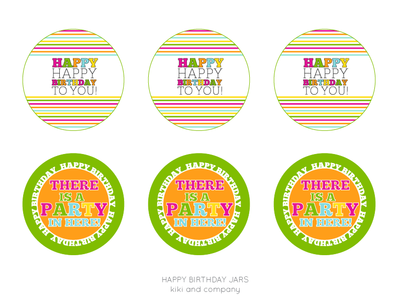 HAPPY BIRTHDAY LABELS AT KIKI AND COMPANY-free labels