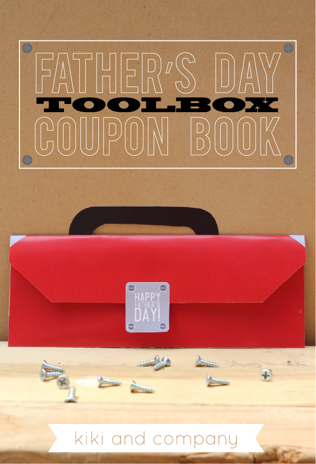 LOVE this Fathers Day Toolbox Coupon Book. Free at kiki and company