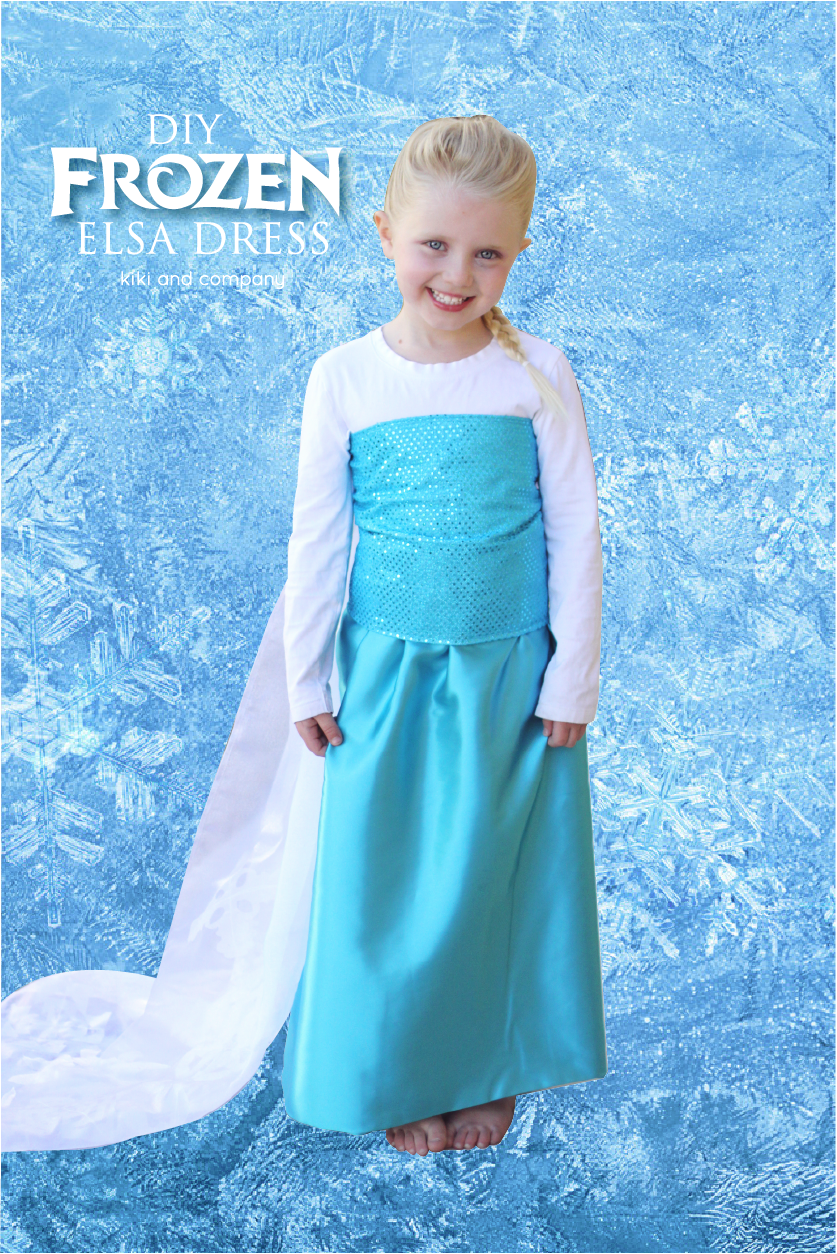 DIY Frozen Elsa Dress Materials List and The Sparkle ...