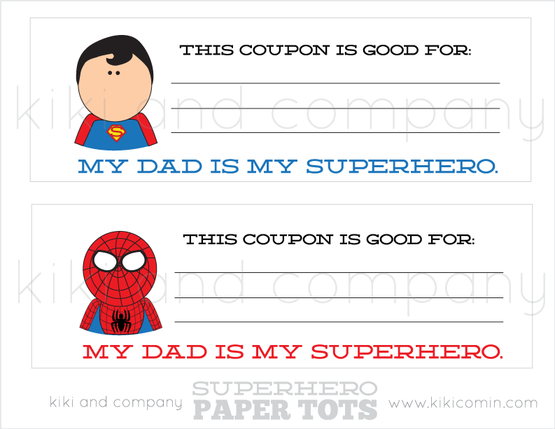How to make a coupon book for my dad