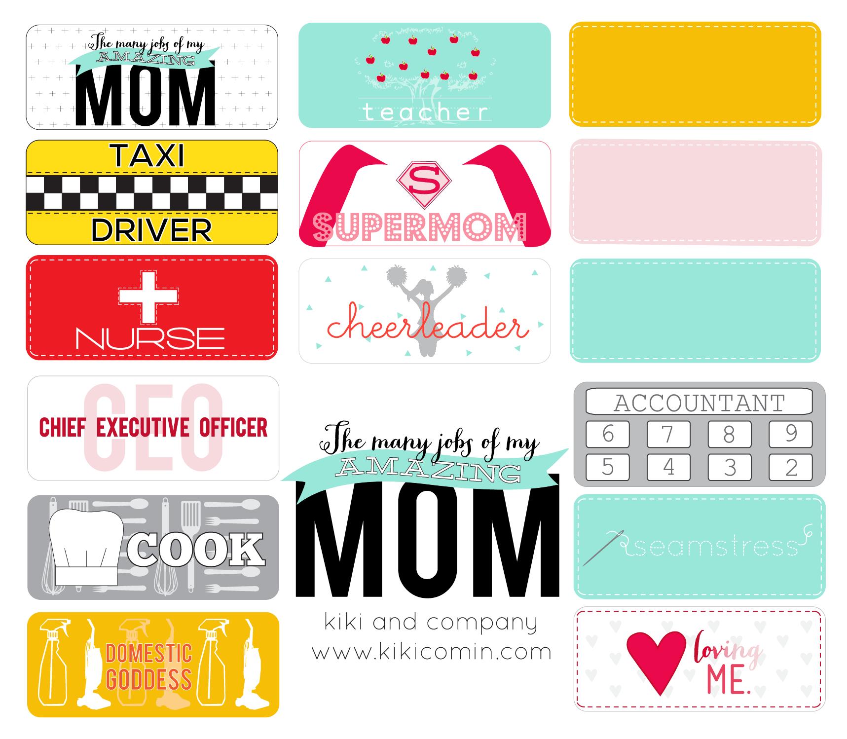 the many jobs of mom free printable kiki u0026 company