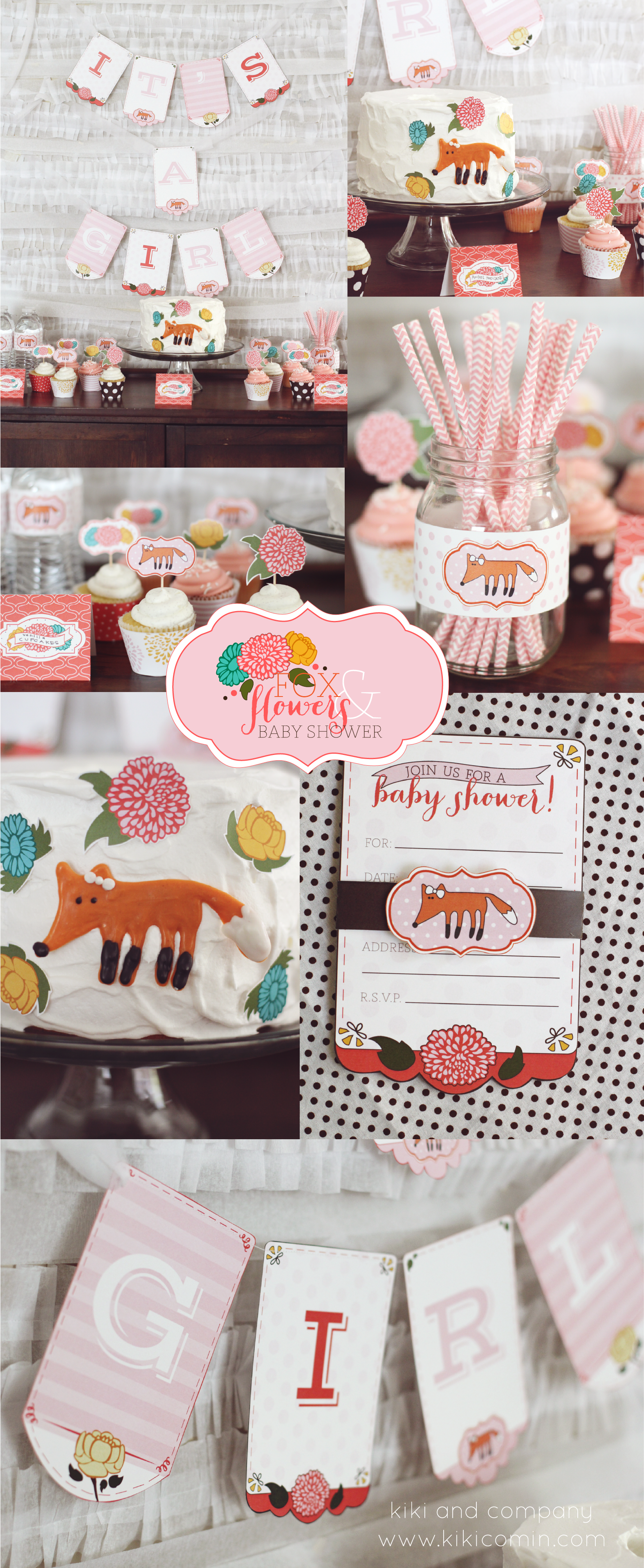 Foxes And Flowers Baby Shower Kiki Amp Company