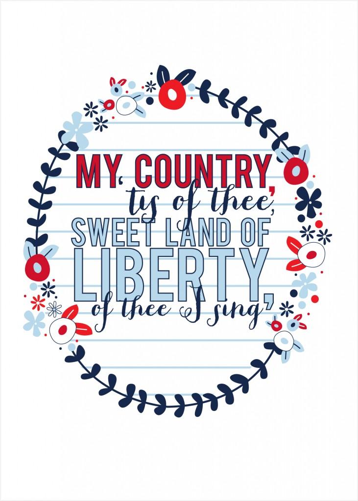My Country 'Tis of Thee Print {free printable} - Kiki ...