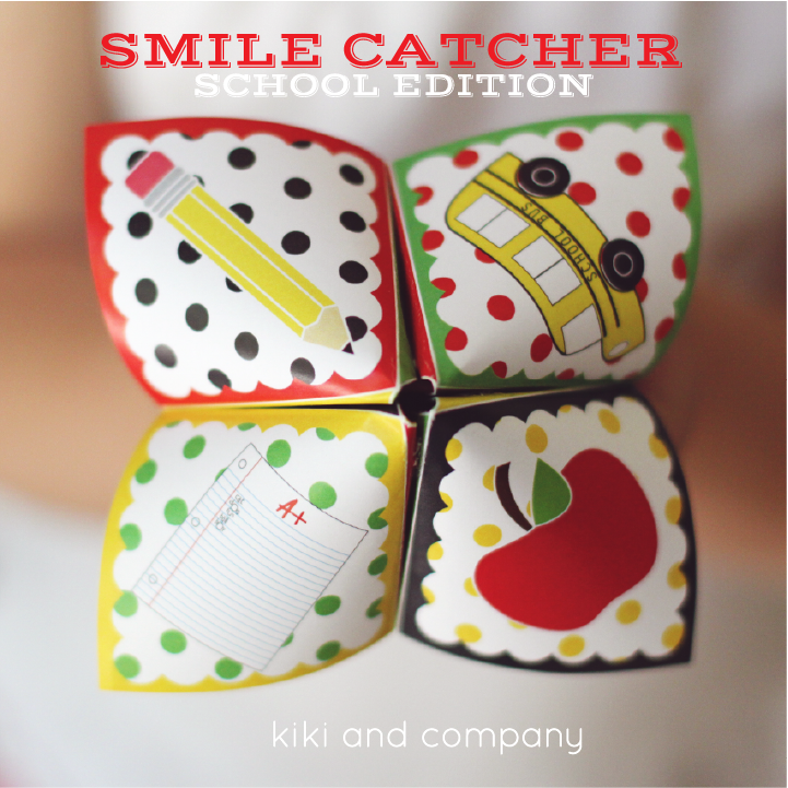 Back to School Smile Catcher {free printable} + 7 other amazing Back ...