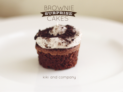 brownie surprise cakes at kiki and company