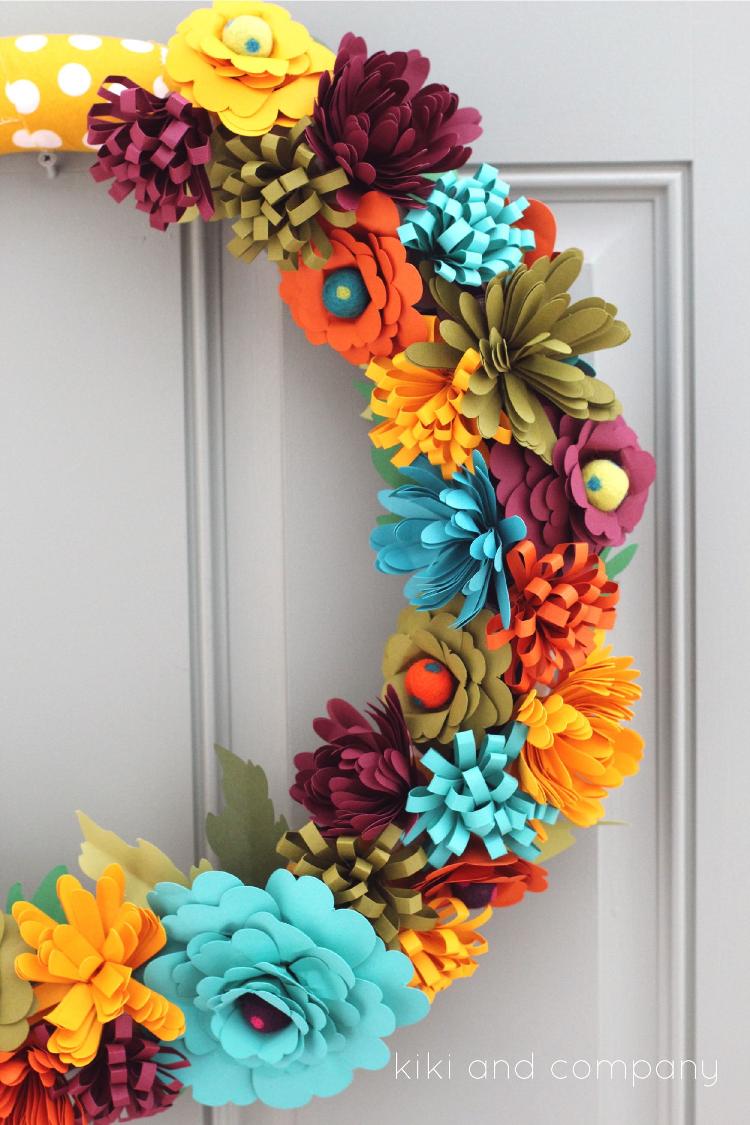 Fresh Fall Flower Wreath - Eighteen25 SL87