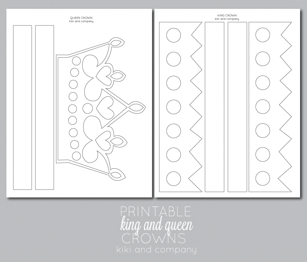 printable kings and queens crown free printable the crafting