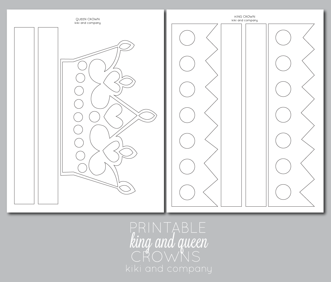 Printable kings and queens crown free printable the for Paper crown template for kids