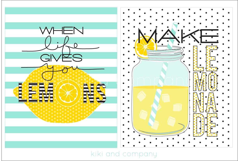 when life gives you lemons make lemonade new prints kiki company. Black Bedroom Furniture Sets. Home Design Ideas