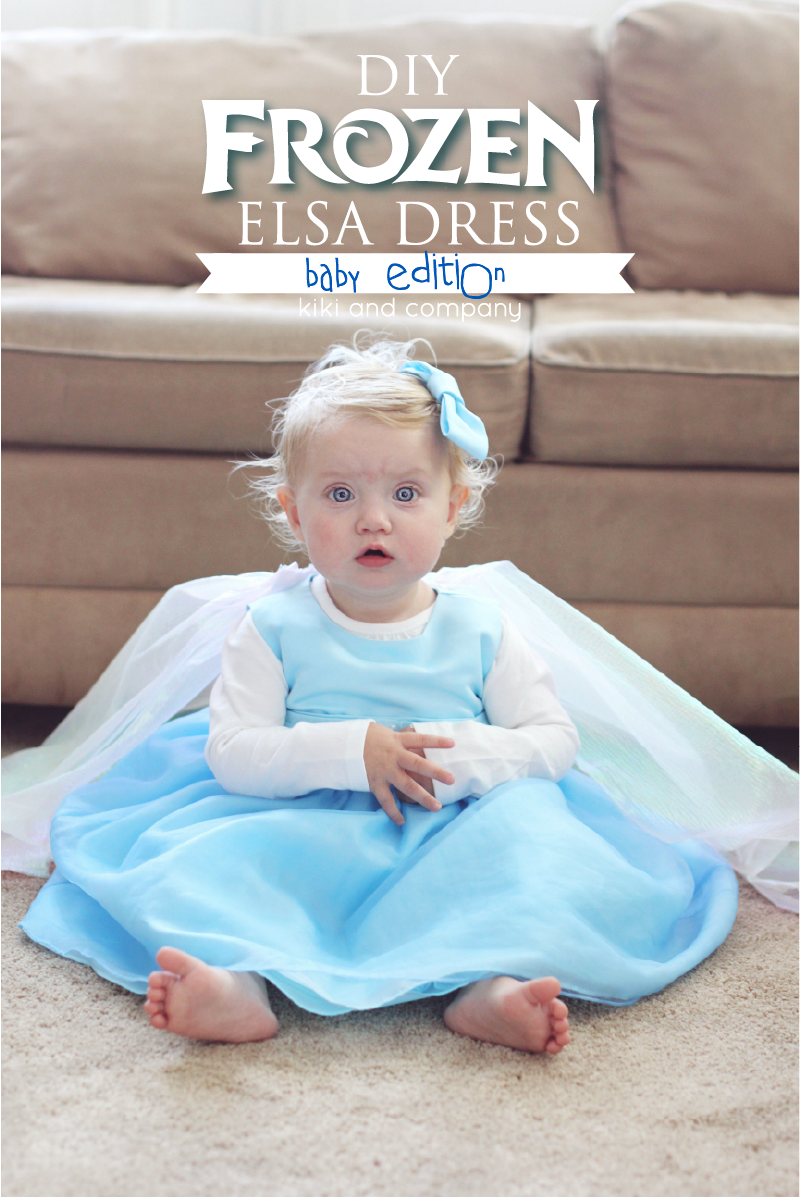 DIY Frozen Elsa Dress BABY Edition - Kiki & Company